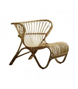 "Fauteuil ""Charlottenborg"" en rotin naturel by Arne Jacobsen"