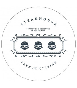 Coffret De 6 Assiettes Steakhouse GM