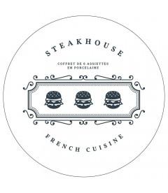 Coffret De 6 Assiettes Steakhouse GM
