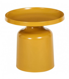 Table Basse Matt Moutarde Ø50 cm