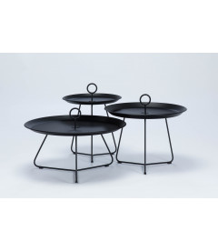 Table Basse Eyelet Ø70cm Noir Outdoor