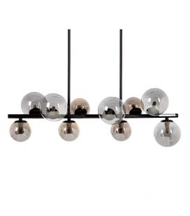 Suspension Bullit Noir 10 Globes 105 cm