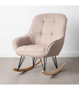 Rocking Chair Capitonné Beige