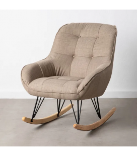 Rocking Chair Capitonné Taupe
