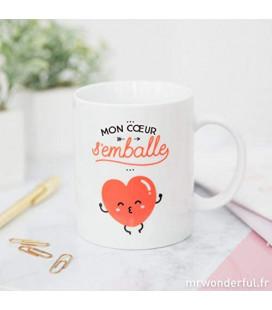 Mug - Mon cœur s'emballe, Céramique
