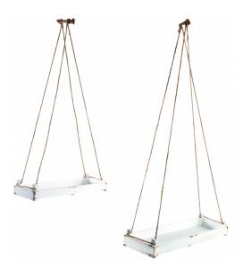 Étagères X 2 suspendues en bois peint