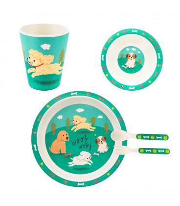 Set Vaisselle Bambou Chien