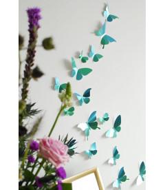 Papillons X24 Bleu Azur Métal DIY