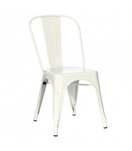 Lot de 4 Chaises Dallas Blanc