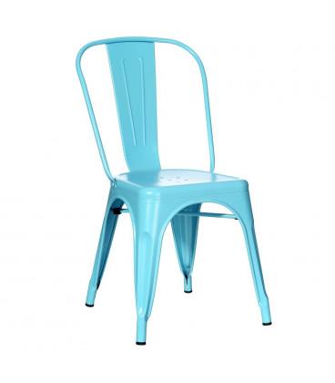 Lot de 4 Chaises Dallas Bleu