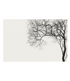 Set De Table Blanc Motif Arbre Noir