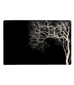Set De Table Noir Motif Arbre Blanc