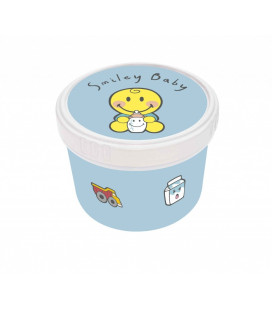 Smiley Baby - Boite Ronde 8-5cm - Baby Blue