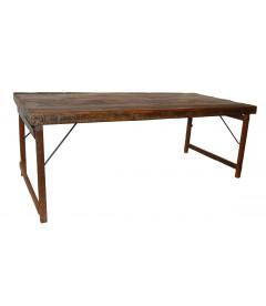 Table A Manger Vieux Bois 200cm - 6 à 8 Personnes