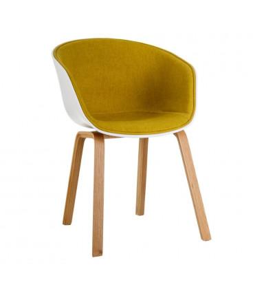 Chaise Moderne Tissu Moutarde