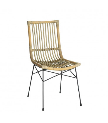 Chaise Rotin Pieds Metal