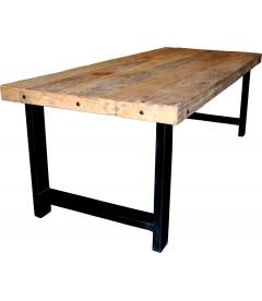 Table A Manger Vieux Bois 221cm Plateau 8cm - 8 Personnes