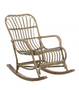 Rocking Chair Rotin / Bois