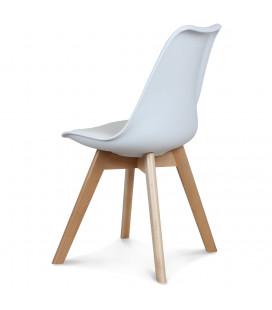 Chaise Copenhague Blanc + Coussin