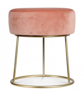Tabouret Bas Hobby Rose Poudré