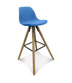 Lot de 2 Chaises De Bar / Plan de Travail Copenhague Bleu