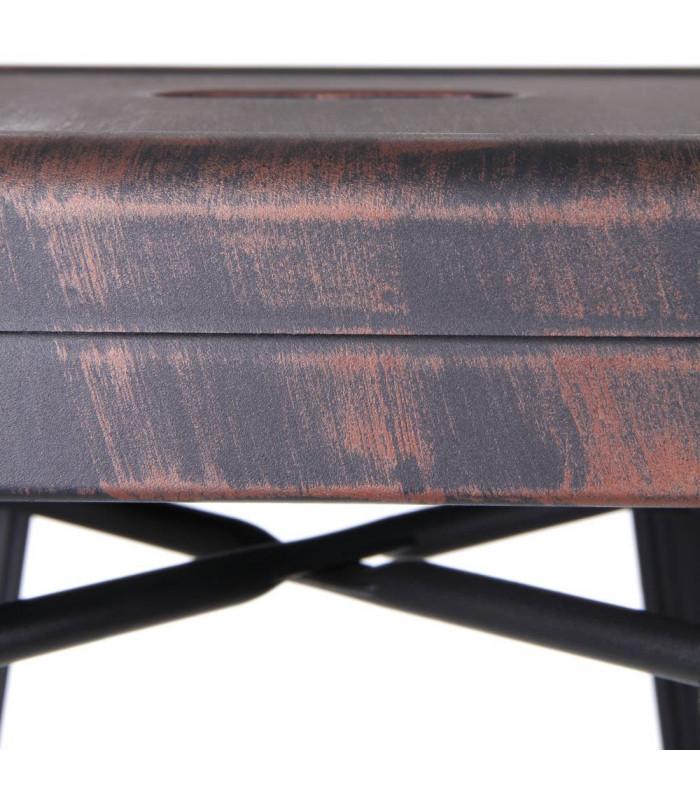 tabouret snacking plan de travail patine noir vieilli or. Black Bedroom Furniture Sets. Home Design Ideas