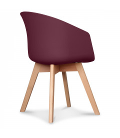 Chaise Scandinave Wine + Coussin