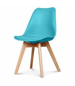 Chaise Copenhague Turquoise + Coussin