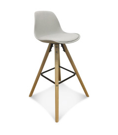 Lot de 2 Chaises De Bar / Plan de Travail Copenhague Taupe