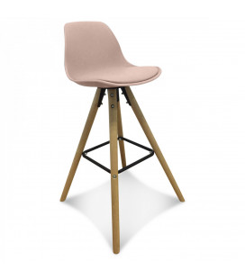 Lot de 2 Chaises De Bar / Plan de Travail Copenhague Blush