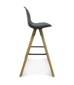 Lot de 2 Chaises De Bar / Plan de Travail Copenhague Anthracite