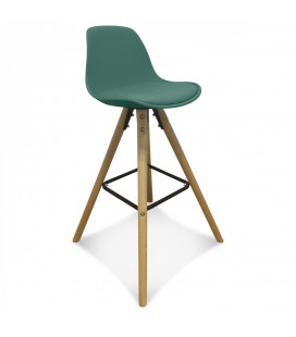 Lot de 2 Chaises De Bar / Plan de Travail Copenhague Vert Pin