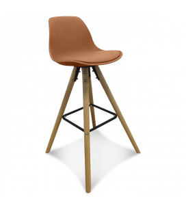Lot de 2 Chaises De Bar / Plan de Travail Copenhague Caramel
