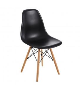 Chaise Vintage Noir Brillant