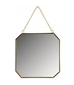 Miroir Octogonal Métal Doré