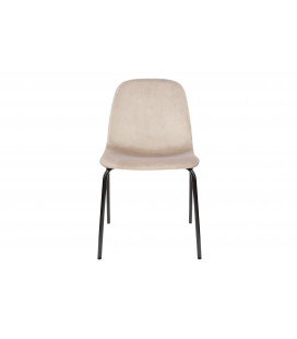 Chaise Ella Velours Taupe