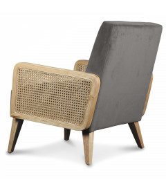 Fauteuil Cannage Gris