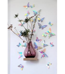 Papillons X24 Rainbow Mirror Métal DIY