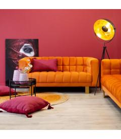 Canapé Cap 2 Places Velours Orange