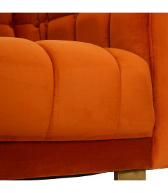 Canapé Cap 3 Places Velours Orange