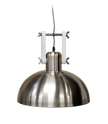 Lampe Suspendue Dexter Acier Brosse & Blanc