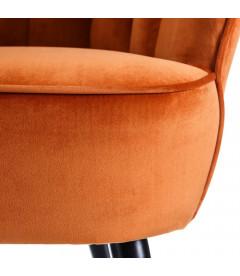 Fauteuil Bas Carole Orange