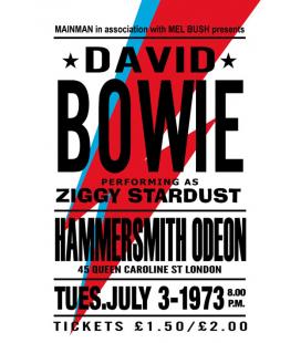 Affiche Concert David Bowie 1973