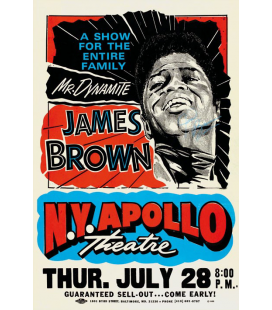 Affiche Concert James Brown NY Apollo [30/40cm]