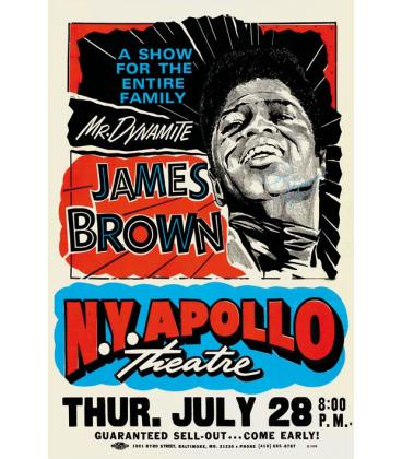 Affiche Concert affiche concert james brown - hØgen