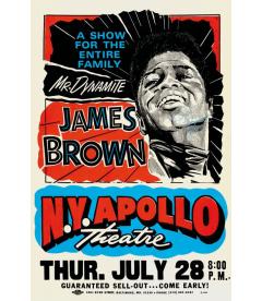 Affiche Concert James Brown NY Apollo [30/40cm]