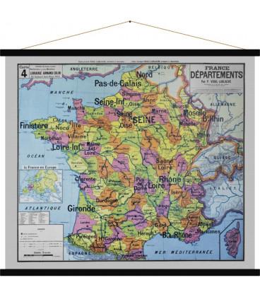 Carte France Départements MEDIUM - HØGEN