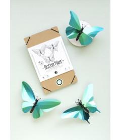 Papillons X3 Vert des Caraïbes DIY
