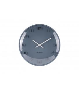 Horloge Karlsson Dôme Elevated Bleu Pétrole