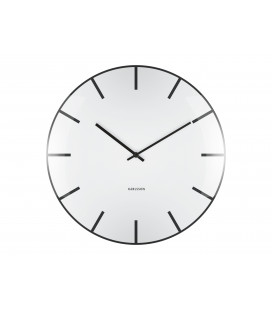 Horloge Karlsson Dôme Blanche